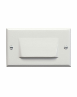 12602WH Kichler Utilitarian Step and Hall 120V LED Step Light Shielded - White