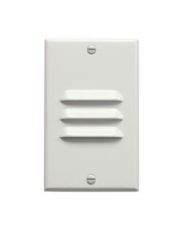 12606WH KCL Utilitarian LED Step Light Vertical Louver (white)
