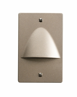12667NI Kichler Utilitarian Step and Hall 120V LED Step Light Non Dimmable - Brushed Nickel