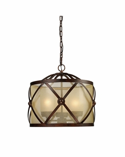 14051/3 Elk Modern Cumberland 3 Light Chandelier In Classic Bronze