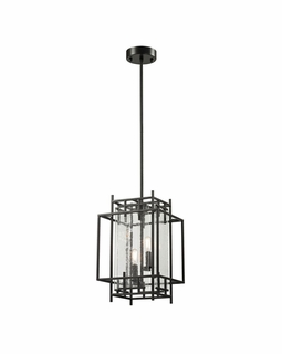 14202/2 Transitional Intersections 2 Light Pendant In Oil Rubbed Bronze