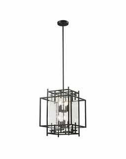 14204/4+4 Transitional Intersections 8 Light Pendant In Oil Rubbed Bronze