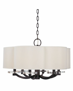 1426 Hudson Valley Warm Modern (6) Light Garrison Chandelier