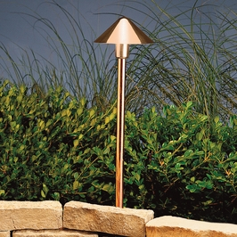 15839CO27 Kichler Landscape Path Light LED Copper 12V Path/Spread