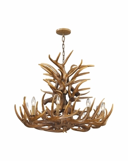 16316/9 ELK Lighting Elk 9-Light Chandelier in Wood Brown