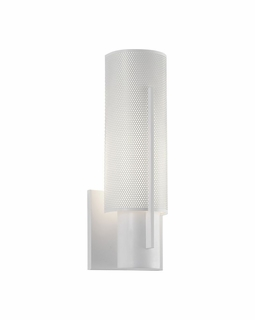 1711.03PF Sonneman Architectural Oberon Slim Sconce in Satin White Finish