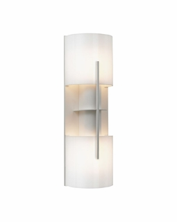 1712.03AF Sonneman Architectural Oberon Double Sconce in Satin White Finish