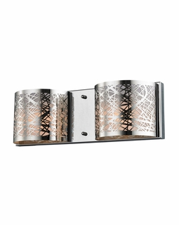 17181/2 Elk Ventor 2 Light Vanity In Polished Chrome And Etched Stainless Steel