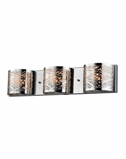 17182/3 Elk Ventor 3 Light Vanity In Polished Chrome And Etched Stainless Steel