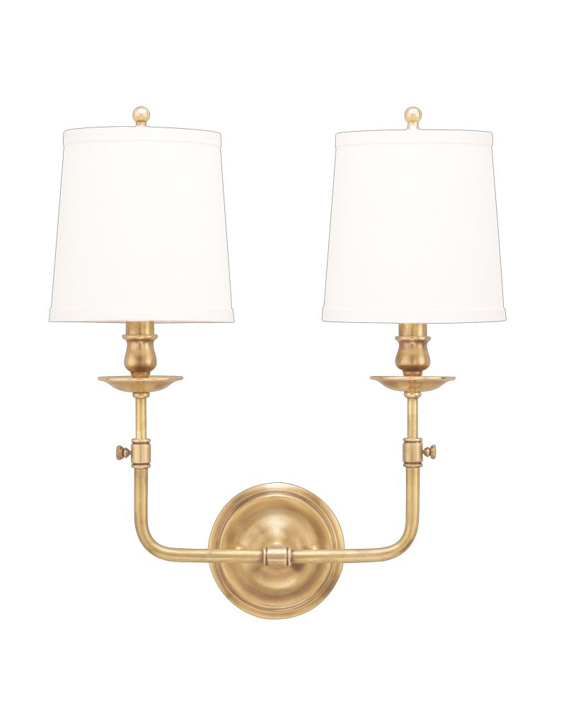 Industrial Chic Wall Sconces : 172 Hudson Valley Chic Vintage & Industrial (2) Light Logan Wall Sconce
