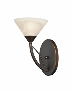 17640/1 Transitional Elysburg 1 Light Vanity In Oil Rubbed Bronze And White Glass