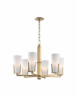 1806 Hudson Valley Warm Modern 6 Light Upton-Chandelier Light