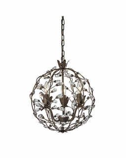 18144/3 Elk Classics Sagemore 3 Light Pendant In Bronze Rust