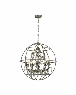 18214/5 Elk Bridget 5 Light Chandelier In Marble Gray