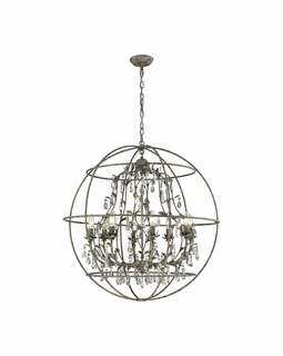 18215/8 Elk Bridget 8 Light Chandelier In Marble Gray