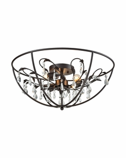 18222/3 Elk Bridget 5 Light Chandelier In Oil Rubbed Bronze