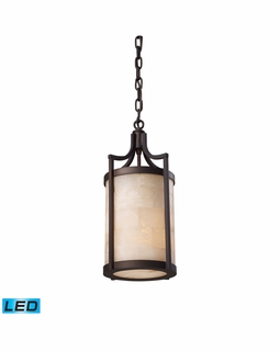 19000/1-LED Transitional Spanish Mosaic 1 Light LED Pendant In Aged Bronze