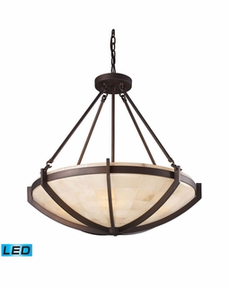 19003/6-LED Transitional Spanish Mosaic 6 Light LED Pendant In Aged Bronze