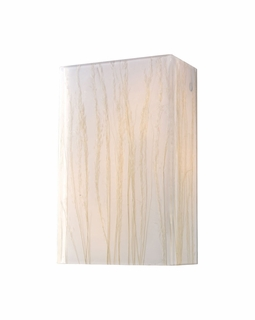 19030/2 Elk Modern Modern Organics 2 Light Sconce In Polished Chrome And White Sawgrass