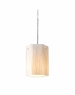 19031/1 Elk Modern Modern Organics 1 Light Pendant In Polished Chrome And White Sawgrass