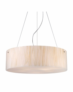 19033/5 Elk Modern Modern Organics 5 Light Pendant In Polished Chrome And White Sawgrass
