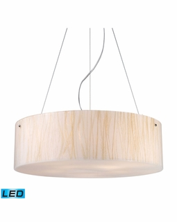 19033/5-LED Elk Modern Modern Organics 5 Light LED Pendant In Polished Chrome And White Sawgrass