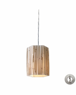 19061/1-LA Elk Modern Modern Organics 1 Light Pendant In Polished Chrome And Bamboo Stem - Includes Recessed Lighting Kit