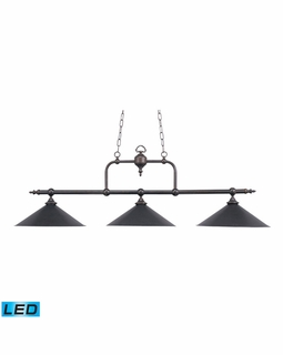 191-TB-LED ELK Lighting Designer Classics 3-Light Island Light in Tiffany Bronze with Metal Shades - Includes LED Bulbs