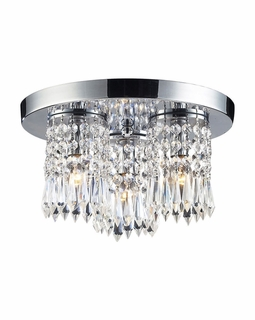 1990/3 Elk Modern Optix 3 Light Semi Flush In Polished Chrome
