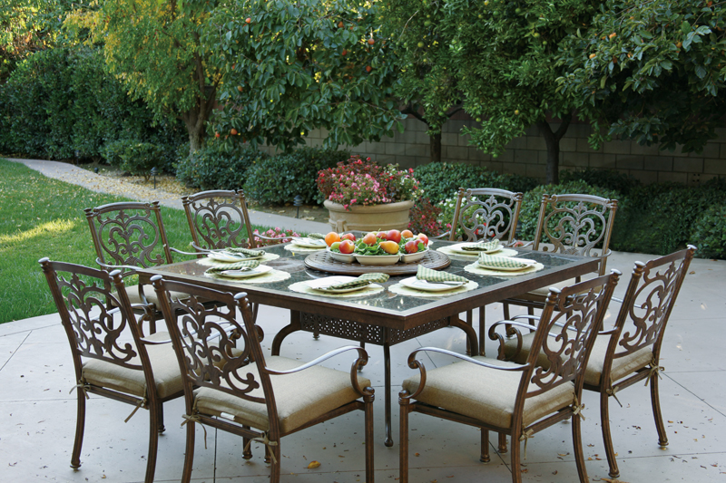 Click To Enlarge: Darlee 201077 E Granite Top Dining Table With Florence  Dining Chairs