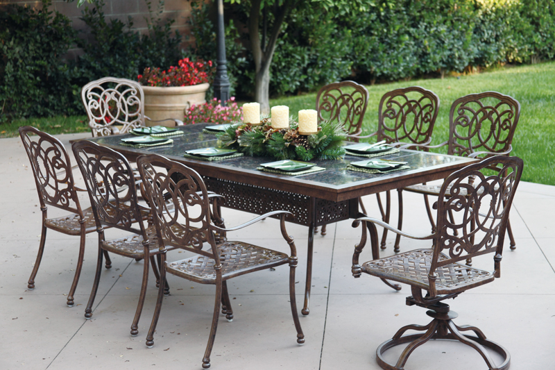 Click To Enlarge: Darlee 201077 L Table With Florence Dining Chairs