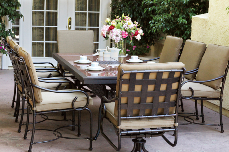 Click To Enlarge: Darlee 201077 L Table With Malibu Dining Chairs