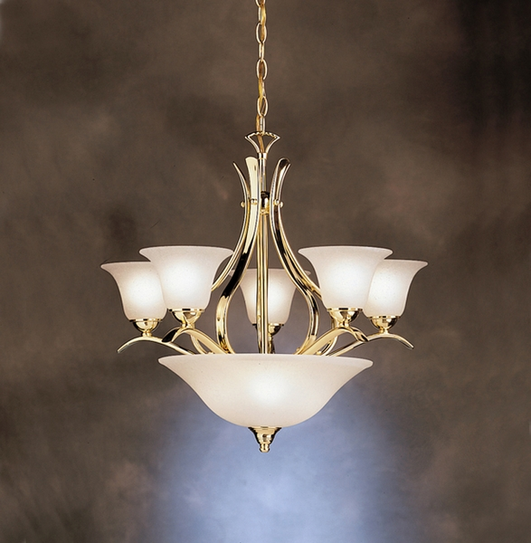 2018pb Kichler Lighting Dover Chandelier In Polished Brass