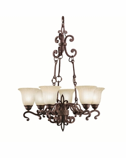 2089CZ Kichler Wilton 6Lt Chandelier 1 Tier Medium