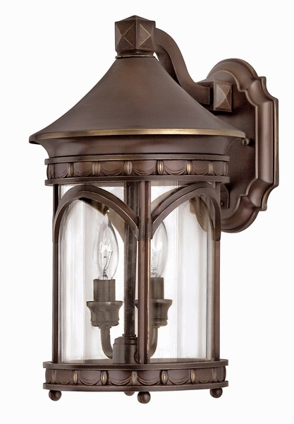 Brass Exterior Wall Sconces : 2310CB-R Hinkley Lighting Lucerne Solid Brass Outdoor Wall Sconce in Copper Bronze