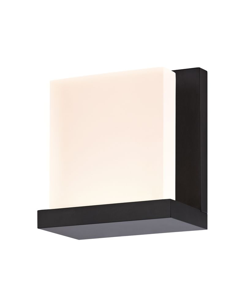 Architectural Led Wall Sconces : 2350.25 Sonneman Glow2 Architectural ADA LED Wall Sconce with Satin Black Finish