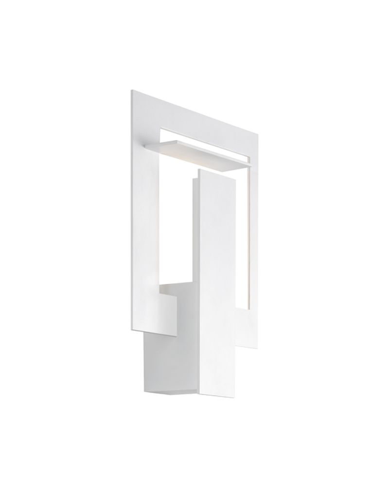Architectural Led Wall Sconces : 2364.98 Sonneman Portal Architectural ADA LED Wall Sconce with Textured White Finish