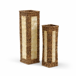 295450 Wildwood Lamps Square Vases (Set of 2)