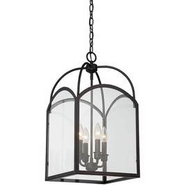 3-3055-4-13 Savoy House Transitional Garrett 4 Light Foyer in English Bronze