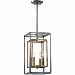 3-821-4-212 Savoy House Transitional Berlin 4 Light Foyer in Argentum and Gold