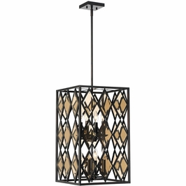 3-9300-8-13 Savoy House Transitional Putman 8 Light Foyer/Entry Lantern in English Bronze