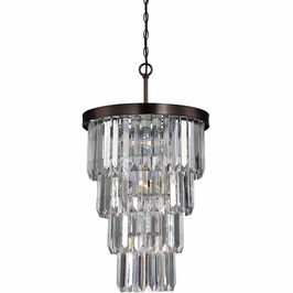 3-9801-7-28 Savoy House Transitional Tierney 7 Light Entry Chandelier with Burnished Bronze Finish