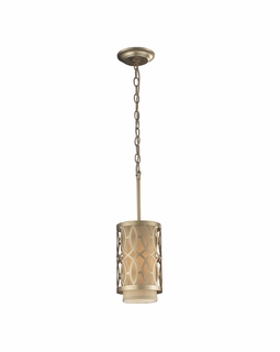 31123/1 Transitional Estonia 1 Light Pendant In Aged Silver