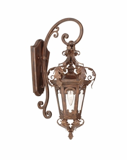 34-21 Corbett Lighting Regency 1 Light Wall Lantern in Regency Bronze