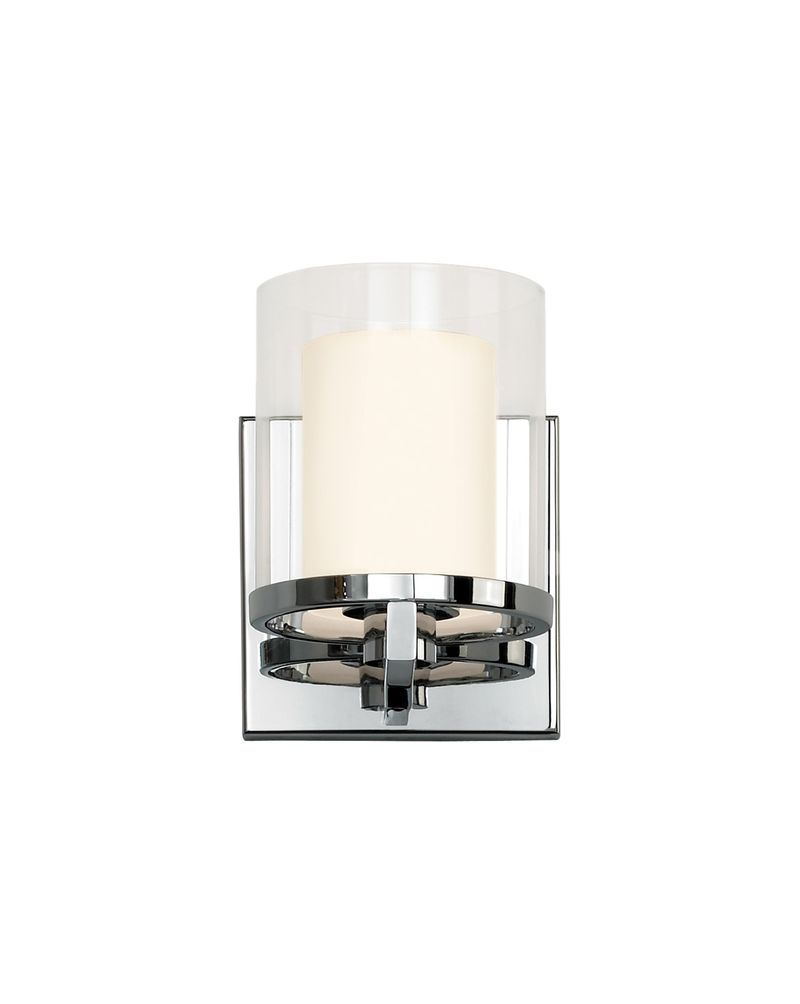 Wall Sconce Chrome Finish : 3410.01 Sonneman Votivo Contemporary Wall Sconce with Polished Chrome Finish