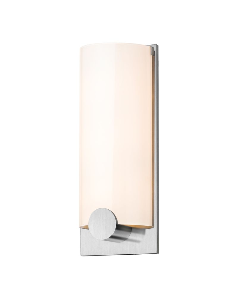 3663.23 Sonneman Tangent Contemporary ADA Round Wall Sconce with Satin Chrome Finish
