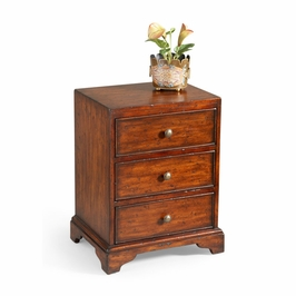 380027 Chelsea House Westen Side Chest-Mahogany Wood Finish Three Drawers