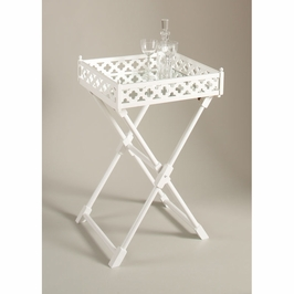 380029 Chelsea House Clover Mirr Tray Table