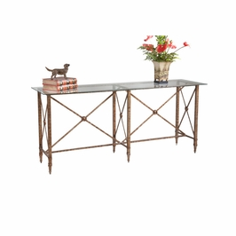 380082 Chelsea House Overland Console-Glass Top