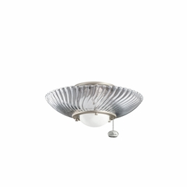 380113NI Kichler Decorative Single Lt Decor Swirl Fixture Fan Light Kits (DISCONTINUED ITEM!)